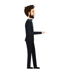 elegant husband avatar character vector image