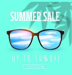 eyeglasses sale banner concept sunglasses vector image
