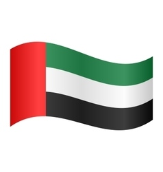 Flag of the United Arab Emirates waving vector