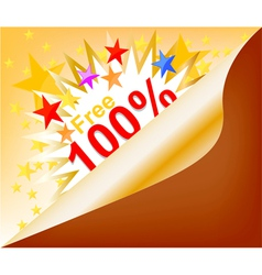 Free coupon background vector