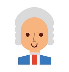 george washington character comic vector image