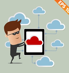 Hacker steal data on cloud computing - - eps vector