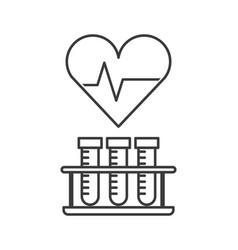 Heart cardio icon vector