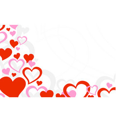 Heart romantic love graphic vector