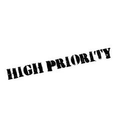 High priority rubber stamp vector