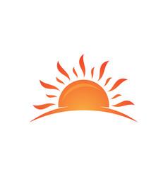 Hot sun vector