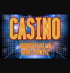 jackpot casino neon lettering vector image
