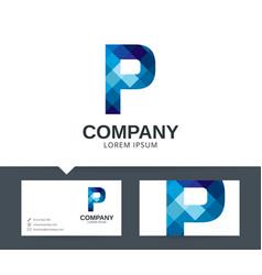 letter p - logo design vector image