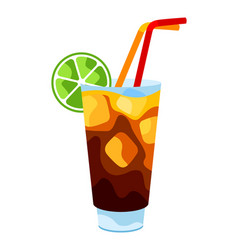 long island cocktail vector image