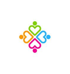 love people logo icon design vector image
