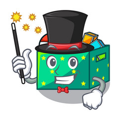 Magician children toy boxes isolated on mascot vector