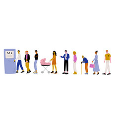 men and women dressed in casual clothes standing vector image