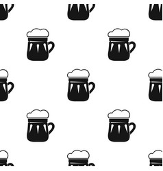 Mug of beer icon in black style isolated on white vector