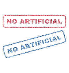 No artificial textile stamps vector