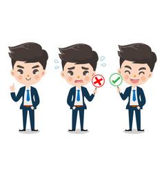 Office boy character vector