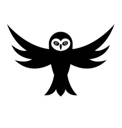 owl with open wings vector image