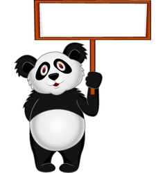 Panda Cartoon with banner vector image