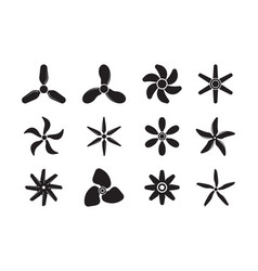 plane propellers motion symbols jet aviation vector image