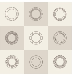 plate set vector image
