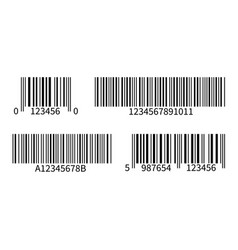Product code line bar stickers with barcode for vector