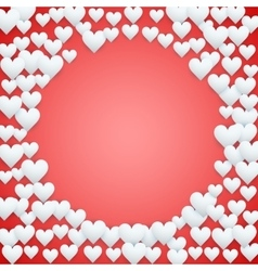 Red Valentines day background vector image
