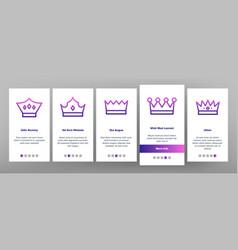 royal headwear crowns and tiaras vector image