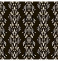 seamless pattern monochrome ornament vector image