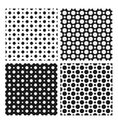 Seamless patterns with dotted circles vector