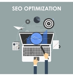 SEO optimization programming process vector