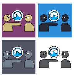 Set of grooveshark for technology and social media vector