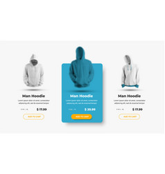 set product card templates for online clothing vector image