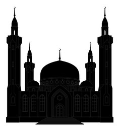 Silhouette mosque vector