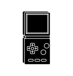 Silhouette video game handle nineties style vector