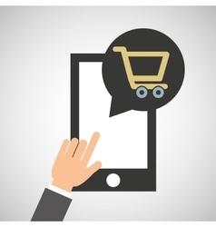 smartphone app buy market online social media icon vector image