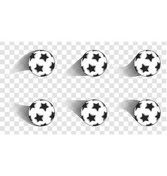 soccer ball football shot isolated on a vector image