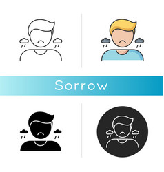 Sorrow icon vector