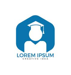 student logo design education logo vector image