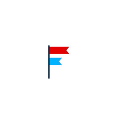 tag letter f logo icon design vector image