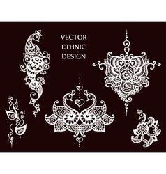 Tattoo henna mandala set vector