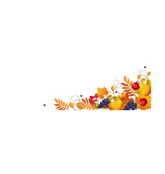 thanksgiving banner with space for text bright vector image