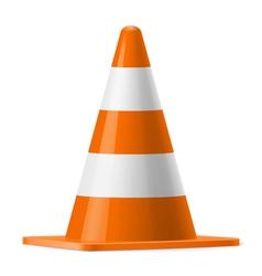 Traffic cone vector