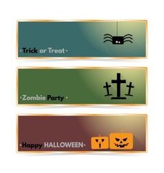 Website spooky header or banner set with Halloween vector