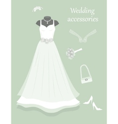 Wedding accessories vector image
