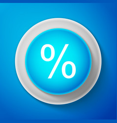 white percent symbol discount icon isolated vector image