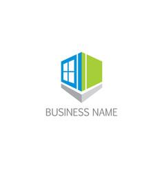 Window architect house company logo vector