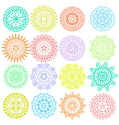 collection of decorative elements vector image vector image