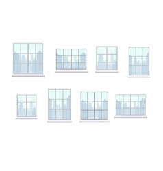Collection of window frames of various shapes vector image vector image