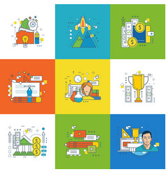 design success in learning video communication vector image vector image