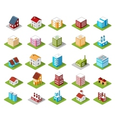 icons isometric vector image vector image