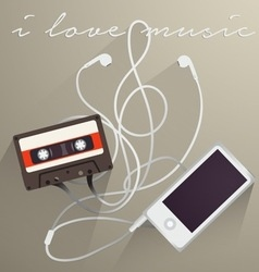 Music Background I Love Music vector image